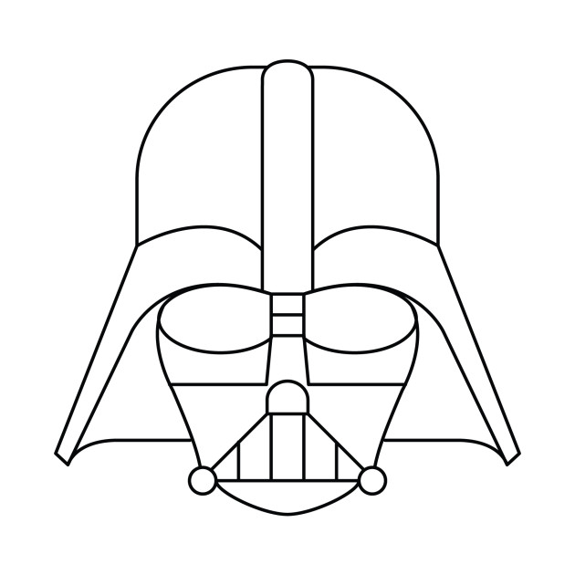 Darth Vader - Simple Graphic - The Sith - T-Shirt | TeePublic