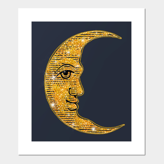 Glittery Effect Moon Man