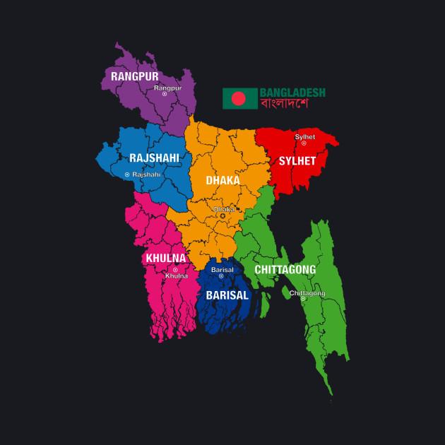 Limited Edition Exclusive Bangladesh Political Map Bangladesh
