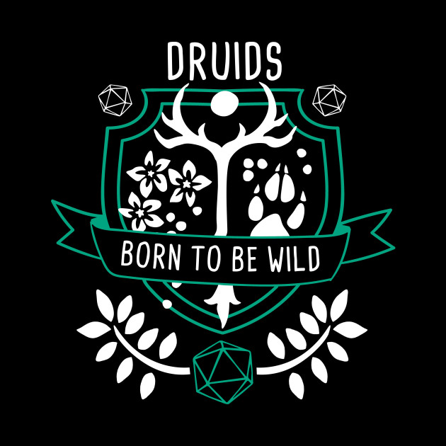 Rpg Class Druid Dungeons And Dragons Tote Teepublic