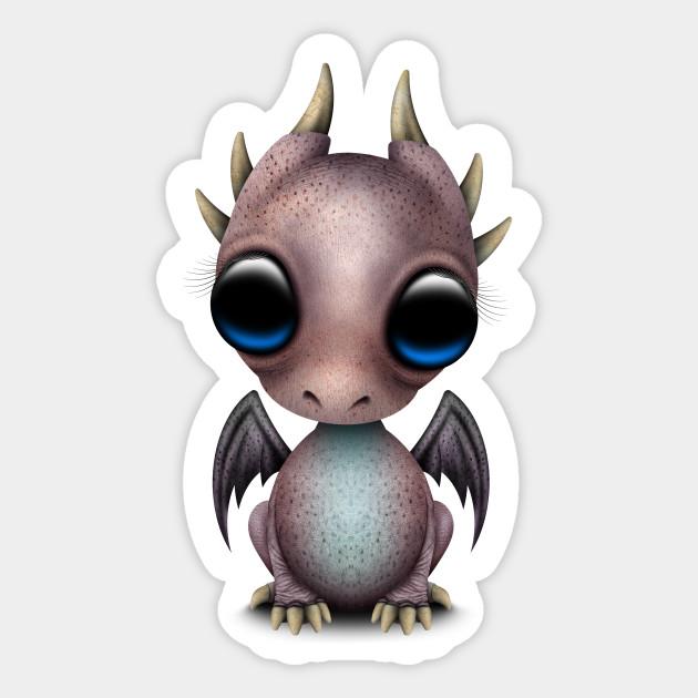 Cute Baby Dragon - Dragon - Sticker   TeePublic