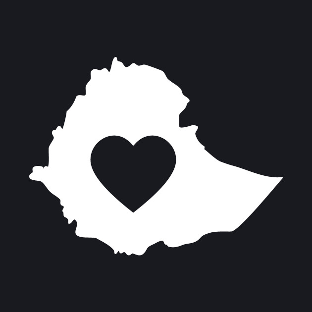 A piece of my heart is in Ethiopia (White)