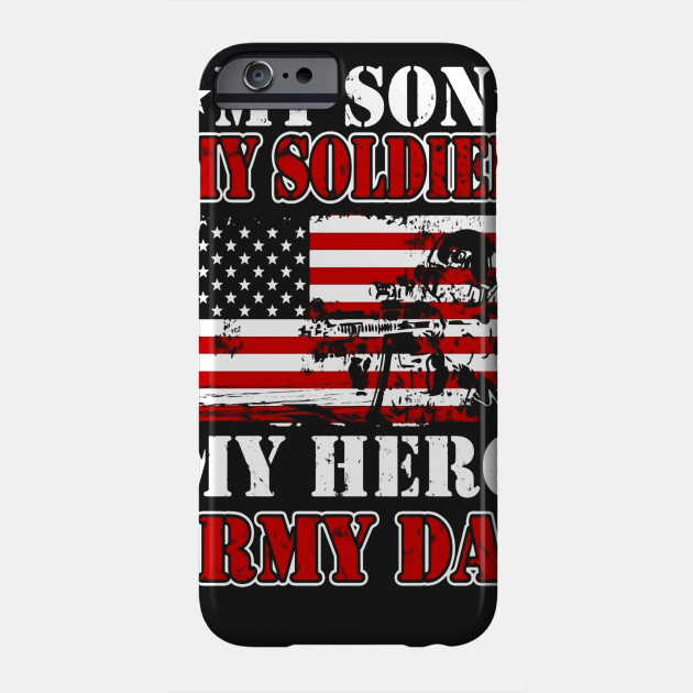 My Army Dad T Shirt My Son My Soldier My Hero Us Soldier Tee
