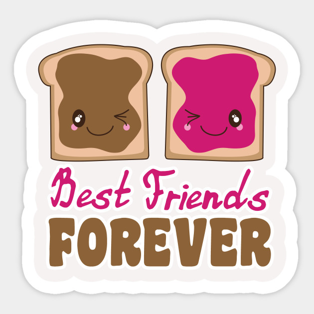 Cute Peanut Butter Jelly Bff Best Friends Forever Kawaii