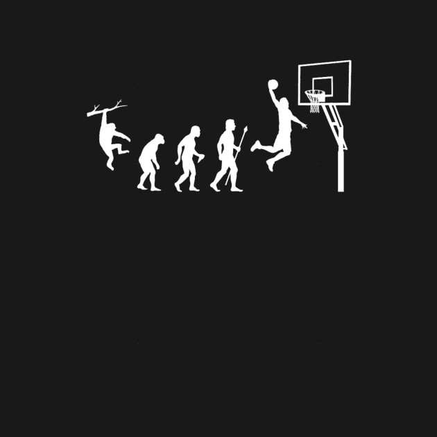 38a9a3d47 Cool basketball shirt showing the evolution of man to basketball ...