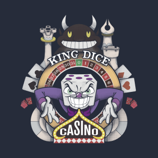 Cuphead King Dice Casino t-shirts
