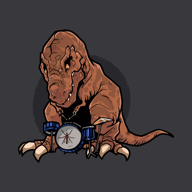 T-Rex Playing the Drums