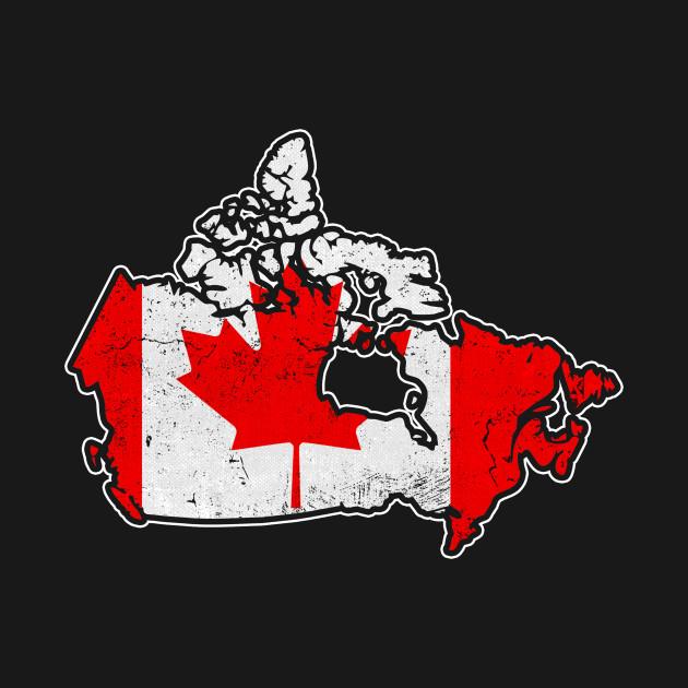 Canada Flag / Map - Canada Flag - T-Shirt | TeePublic on
