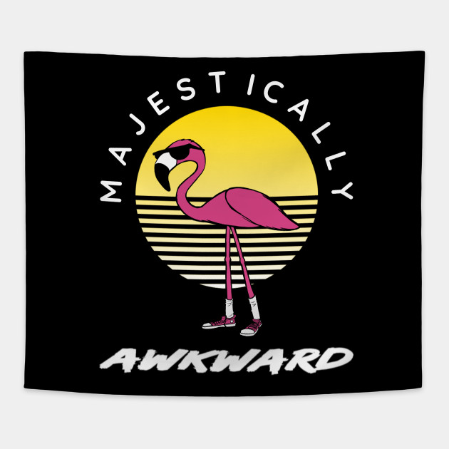 ba371de1 Majestically Awkward Flamingo - Flamingo - Tapestry   TeePublic