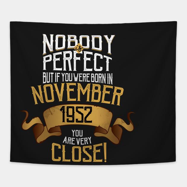 November 1952 Birthday Gift 65 Year Old Bday Tapestry Idea