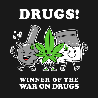 Drugs: Winner Of The War On Drugs t-shirts
