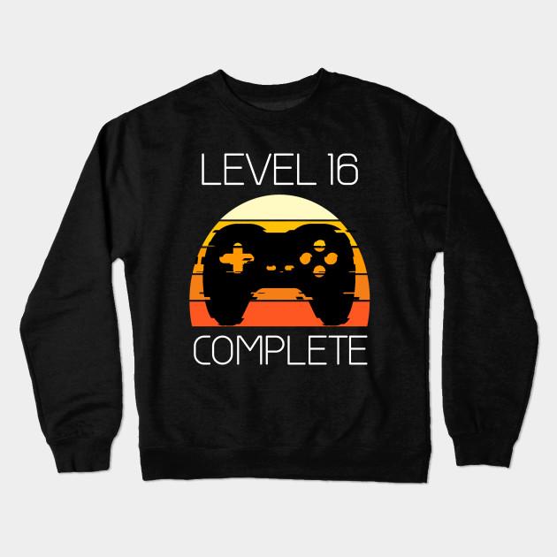 Vintage 16th Birthday Level 16 Old Funny Gamers Gift T Shirt Crewneck Sweatshirt