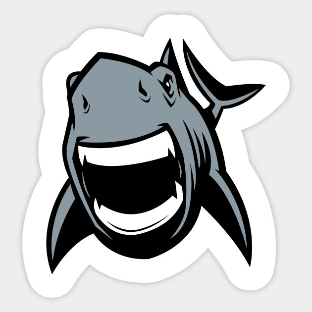 Angry Great White Shark Logo