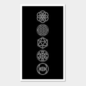 Sacred Geometry Symbols Posters and Art Prints | TeePublic UK
