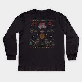 Ugly Jurassic Christmas Sweater - Jurassic Park - T-Shirt   TeePublic