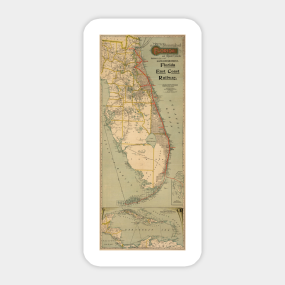 Northern Florida Map Stickers TeePublic - Map of northern florida