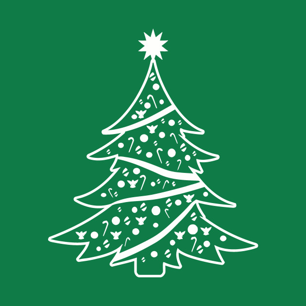 Big White Christmas Tree