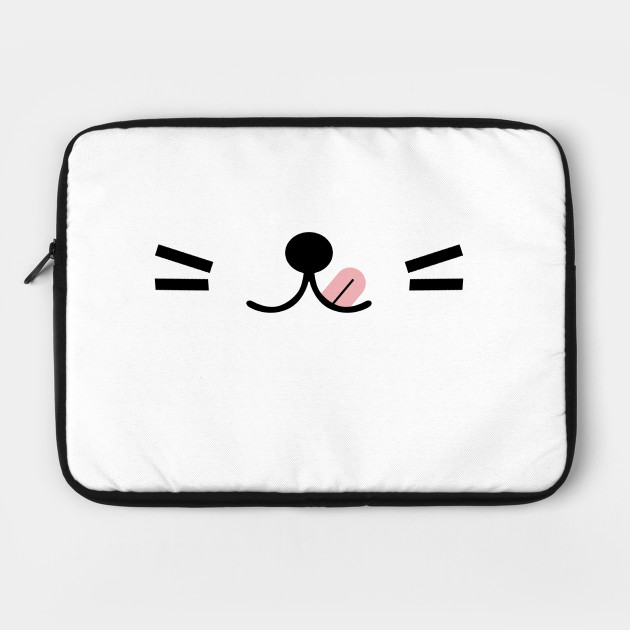 White Silly kitty mask