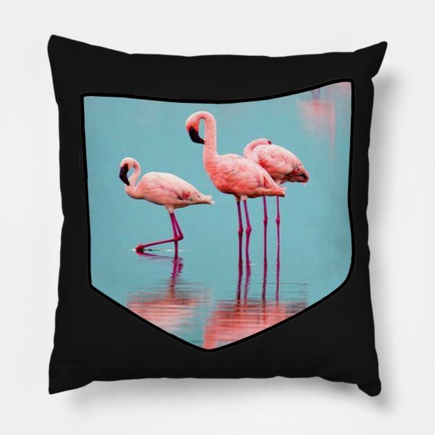 Mini Cuscini.Mini Pink Flamingo Shirt Pocket Pet Rose Feather Gold Shirt