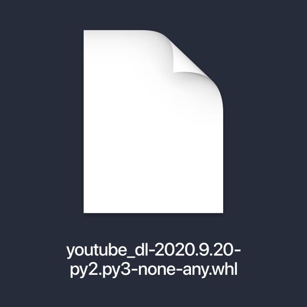 youtube-dl (light text)