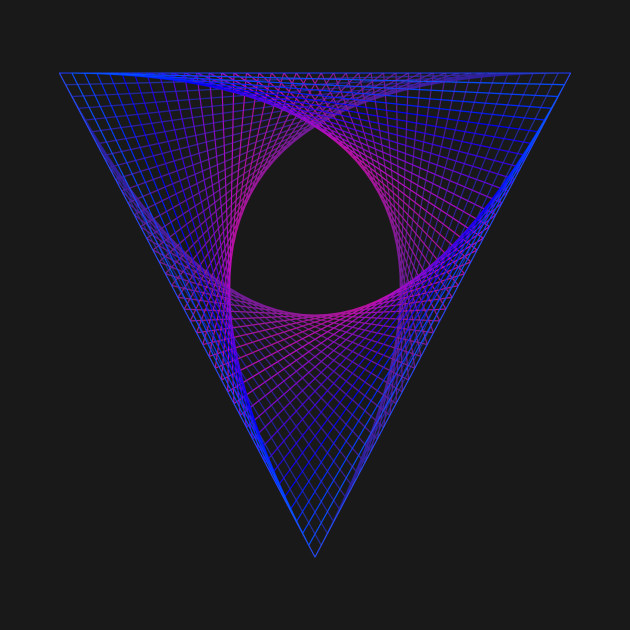 Abstract Geometric Shape Triangle Neon Color