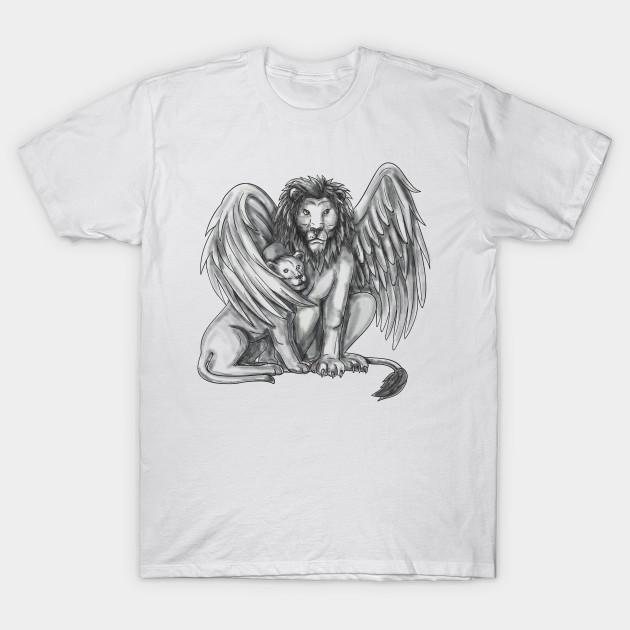 Winged lion tattoo - photo#54