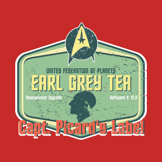 CAPT. PICARD'S LABEL EARL GREY TEA