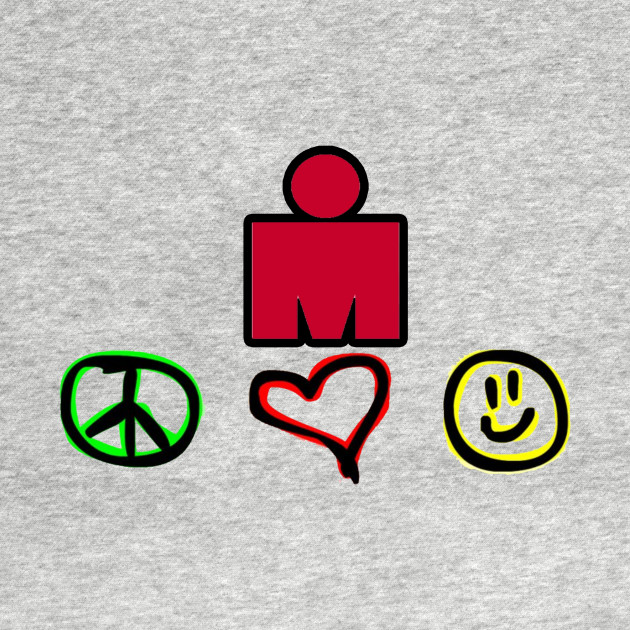 Ironman Triathlon Peace Love And Happiness Iron Man Long Sleeve
