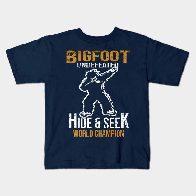 e9aac36c1 Bigfoot T-shirt Undefeated Hide & Seek Dabbing Sasquatch Yeti Gift 2 Kids T- Shirt