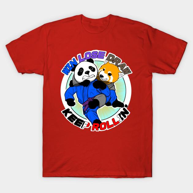 Bjj Jiu Jitsu T Shirt Win Lose Draw Keep Rollin Bjj T Shirt