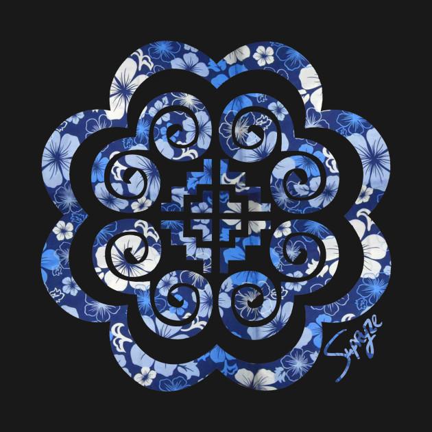 Hmoob Blue Floral