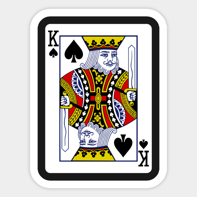 King Of Spades Playing Card King Of Spades Sticker Teepublic Uk