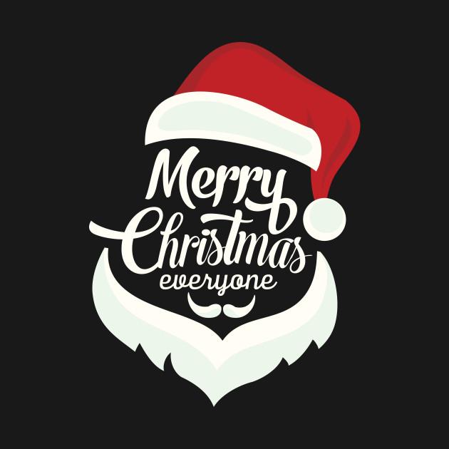 Merry Christmas Everyone.Merry Christmas Everyone Santa Text Face