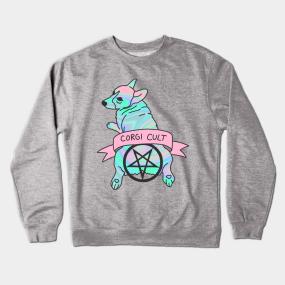 Hologram crewneck sweatshirts teepublic corgi cult witchy 90s hologram dog print crewneck sweatshirt gumiabroncs Gallery