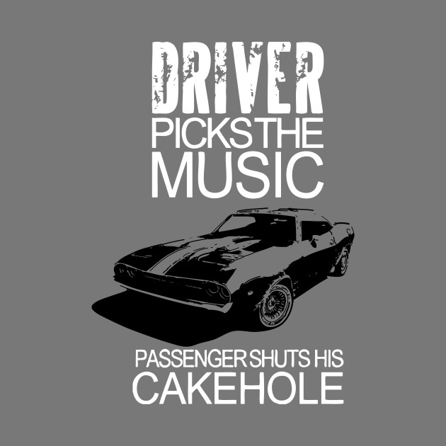 Driver Picks The Music passenger shuts his Cakehole