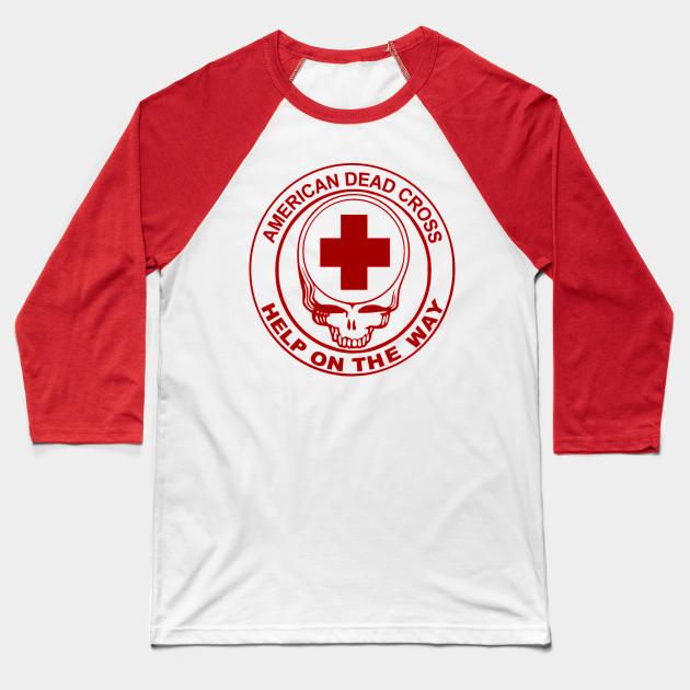 Long sleeve T American Dead Cross Garcia Grateful Dead -Help On the Way