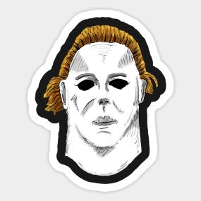 Halloween mask Sticker