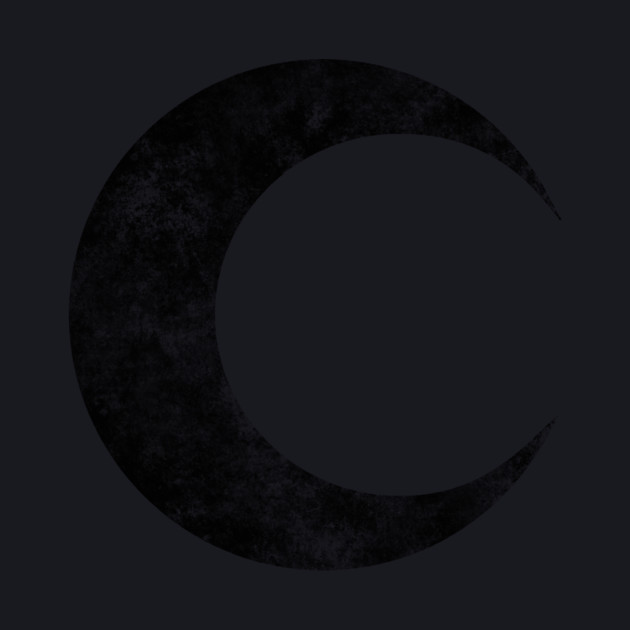 Moon Knight - Classic Symbol - Black Dirty