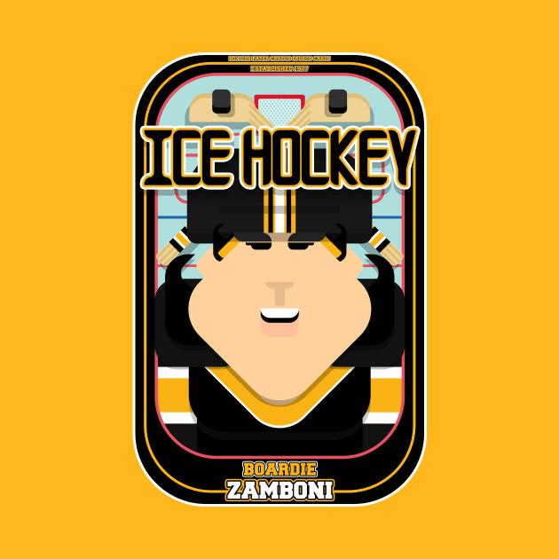 Ice Hockey Black and Yellow - Boardie Zamboni - Amy version