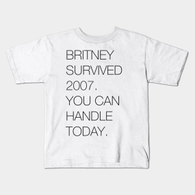 Britney Survived 2007 kids-t-shirt