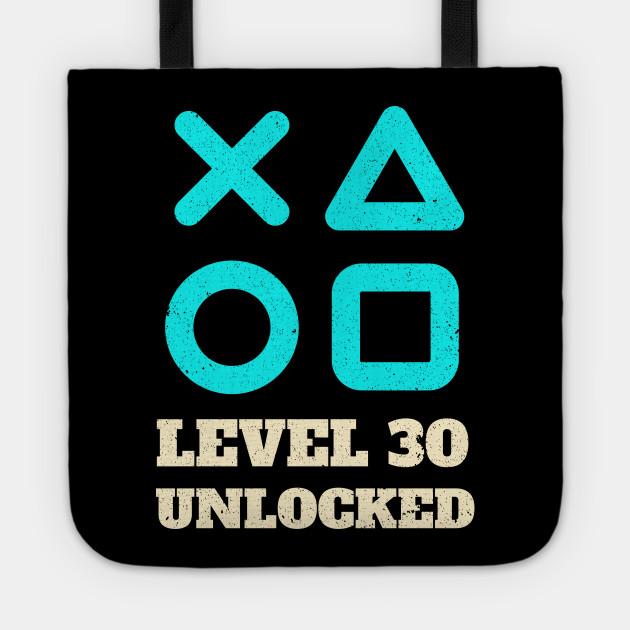 Level 30 Unlocked Video Gamer 30th Birthday Gift