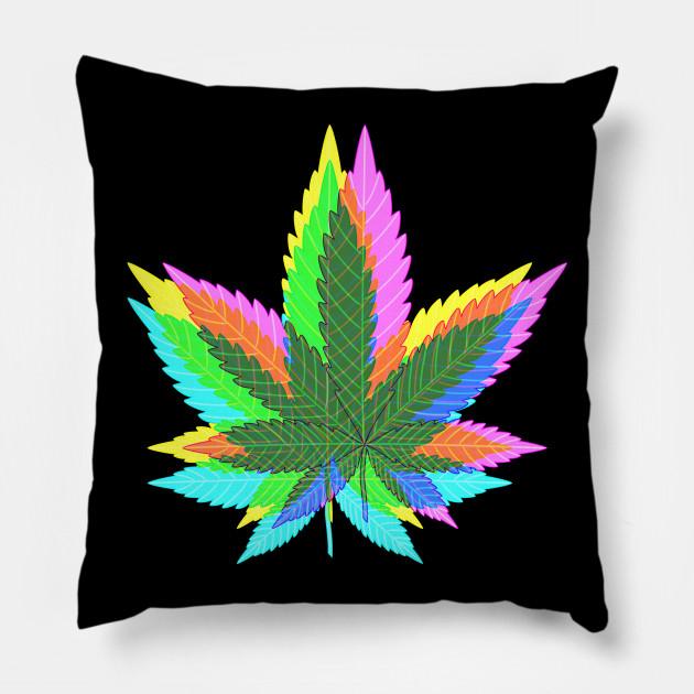 Marijuana Weed Leaves Psychedelic Neon Colored 1 Marijuana