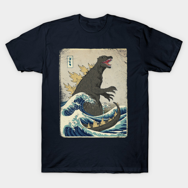 The great godzilla off kanagawa godzilla t shirt The great t shirt