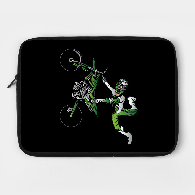 Green Dirtbike Motocross Freestyle Fly