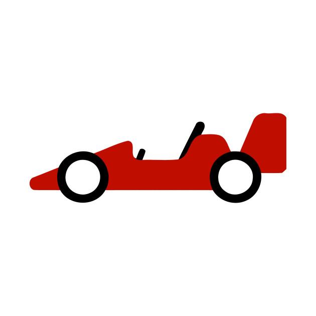 Red Racing Car Emoticon