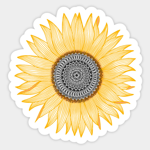 3a787c0df Golden Sunflower Mandala - Sunflower - Sticker | TeePublic