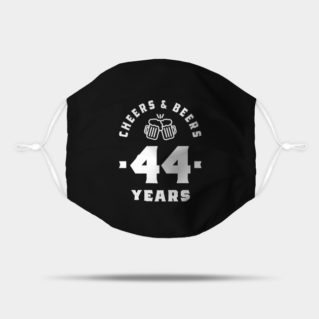 44 Year Old Gift 44th Birthday Gift Ideas Mens And Womens 44th Birthday Gifts Mask Teepublic