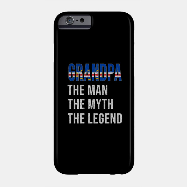 Grand Father Cape Verdean Grandpa The Man The Myth The Legend - Gift for Cape Verdean Dad With Roots From  Cape Verde Phone Case