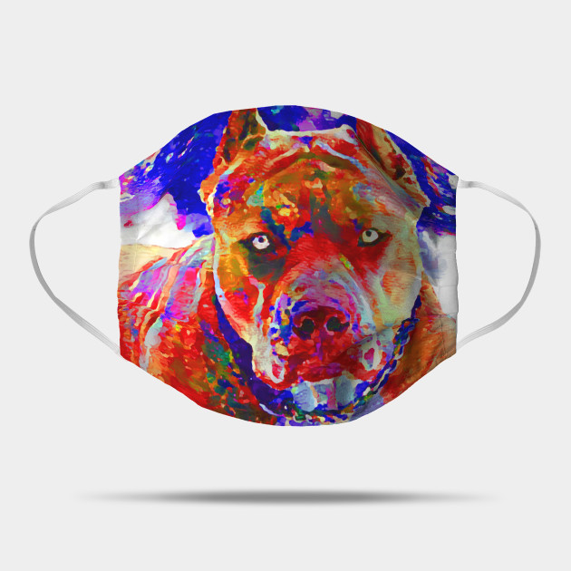 Pitbull Pit Bull Standing In Orange Dog Lovers Design