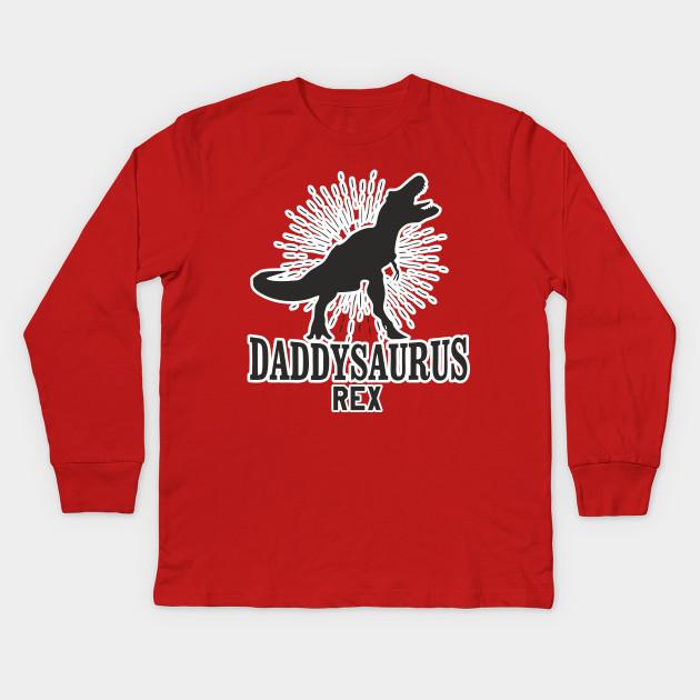 0b4f7557 Daddysaurus Rex Shirt Father's Day TShirt Daddy Dad Papa Tee Kids Long  Sleeve T-Shirt